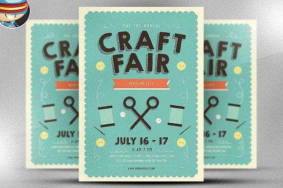 craft fair flyer template by flyerheroes on creativemarket flyer