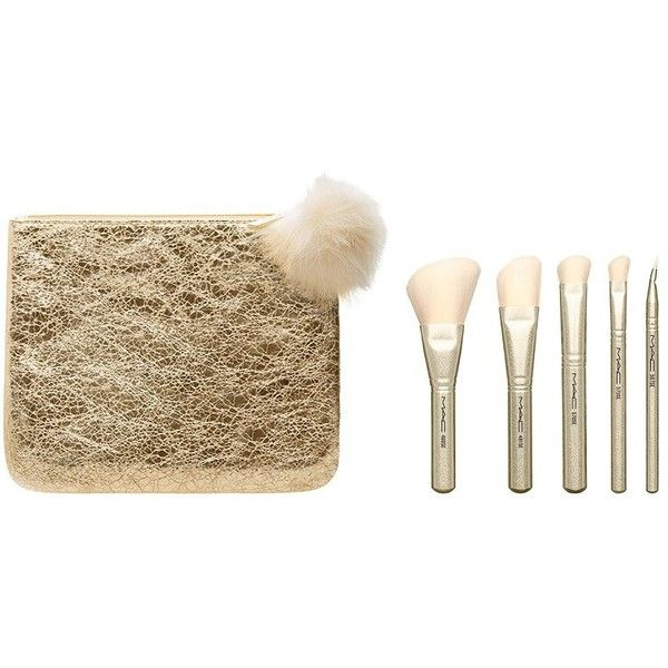 MAC Snow Ball Brush Kit ($50) ❤ liked on Polyvore featuring beauty products, makeup, makeup tools, makeup brushes, slanted makeup brush, blush brush, angled makeup brush, mac cosmetics kit and eye shadow brush