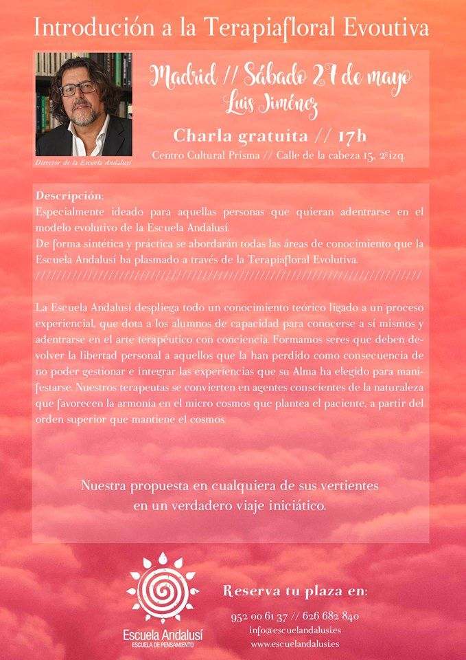 Escuela Andalusí | Charla Gratuita Terapiafloral Evolutiva, Madrid - Escuela Andalusí