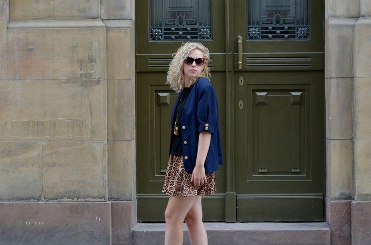 vintage jacket + leopard print skirt by Iga Parker