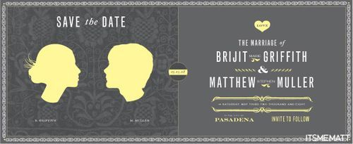 Matt and Brijit's Save the Date poster