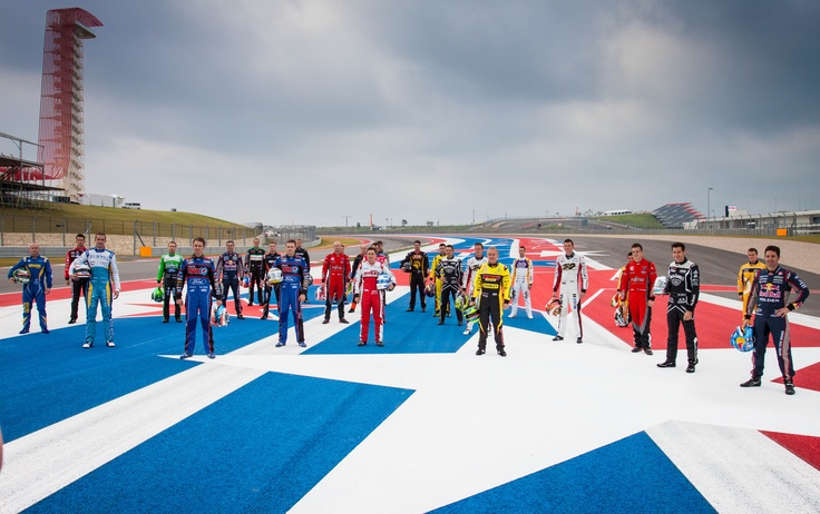 "Welcoming the #Austin400 V8 Supercar drivers atop the stars and stripes at Circuit of the Americas with what became affectionately known as the ""mullet"" in the background..."