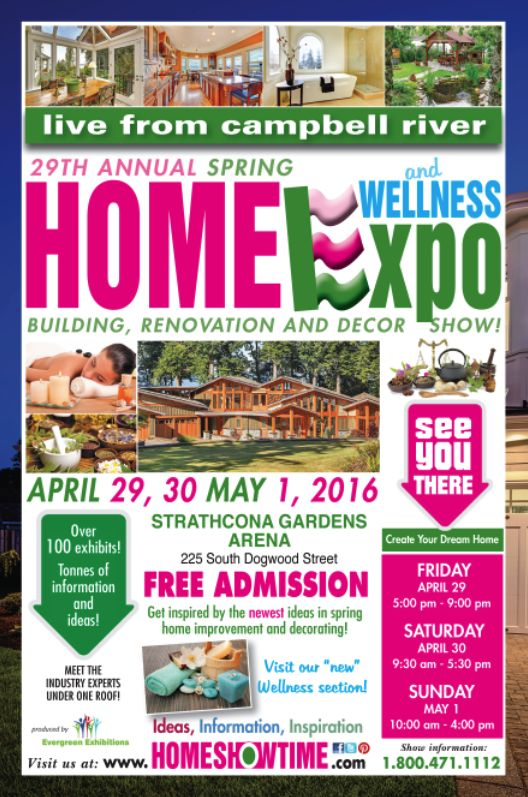 Campbell River Home & Wellness Expo | April 29 to May 1 | At Strathcona Gardens