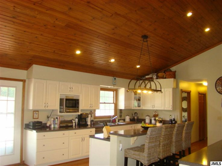 Rustic kitchen with tongue and groove ceiling. 10759 ...