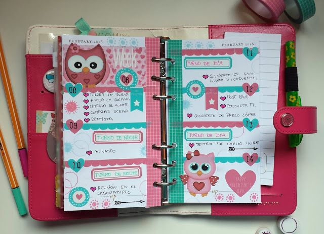 Decoración agenda Webster's Pages: semana 06/2016
