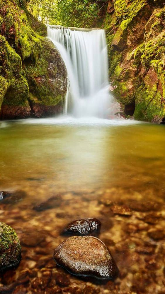 Waterfall and moss by Tony Turner on 500px