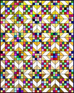 Scrappy Sunny Lanes pattern