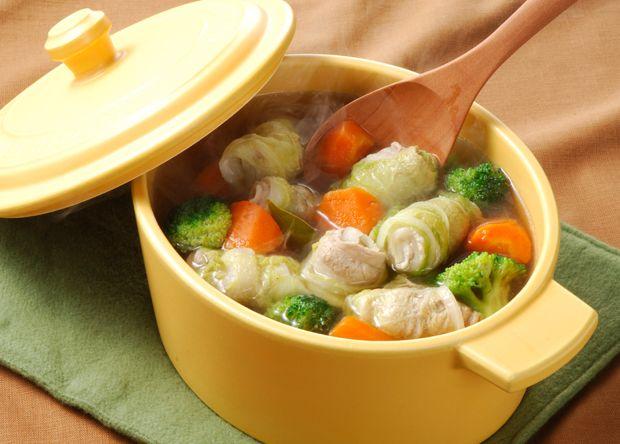 レシピ:豚肉の白菜巻きポトフ
