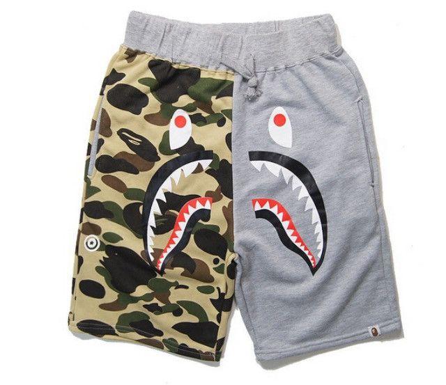 a88d0bebe BAPE Camo Shark Head Jogger Shorts | Street style | Jogger shorts, Bape,  Camouflage shorts