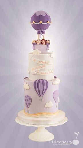 www.cakecoachonline.com - sharing...Hot air balloon cake