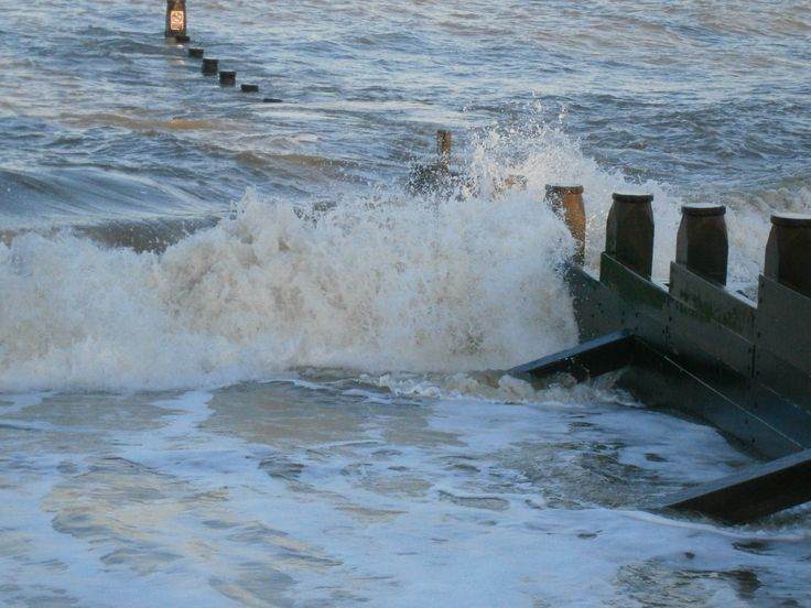 Watching the waves at Southwold Beach, Suffolk