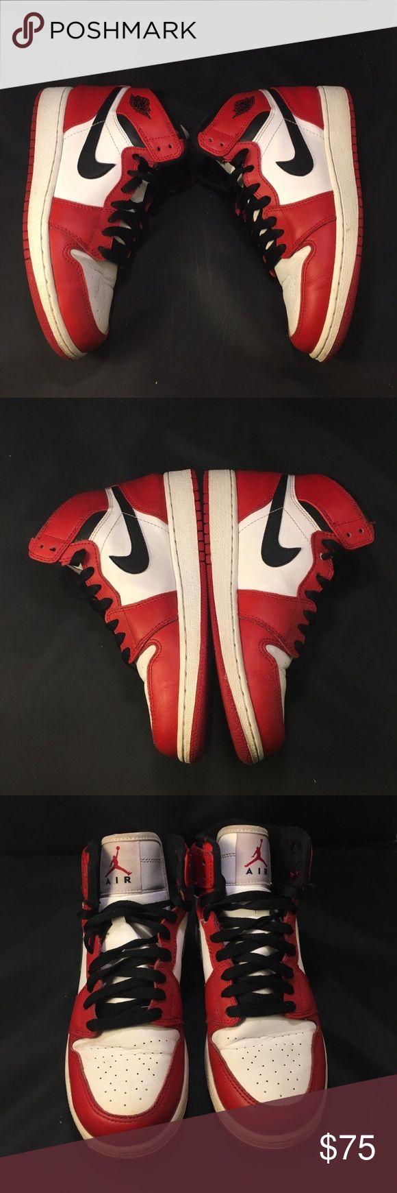 "2012 Air Jordan ""Bull"" Retro 1 Size 5y 100% Authentic  Preowned 2012 Release Jordan Bull 1s Comes In a replacement box  Great basketball sneakers Air Jordan Shoes Sneakers"