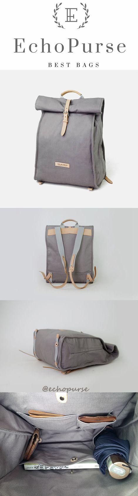 Vintage Canvas Backpack, Travel Racksacks, Ladle Cover School Bag H03
