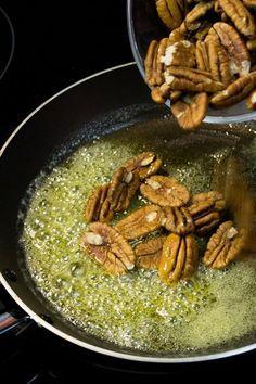 Cómo caramelizar nueces o almendras