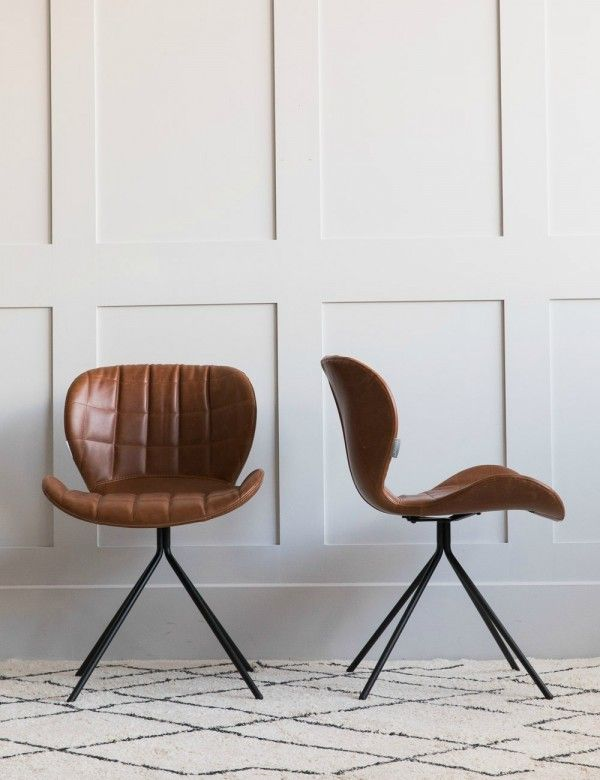 Brown Leather Look Dining Chair Leather Dining Chairs Black Dining Room Chairs Dining Chairs