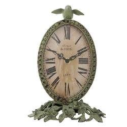 Clayre & Eef Uhr Tischuhr Kaminuhr PARIS Antik, 16x22cm