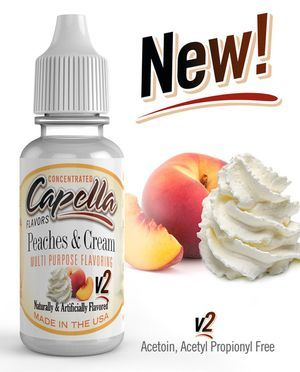 Original Bottle Peaches and Cream V2 Flavor Concentrate-13ml UK