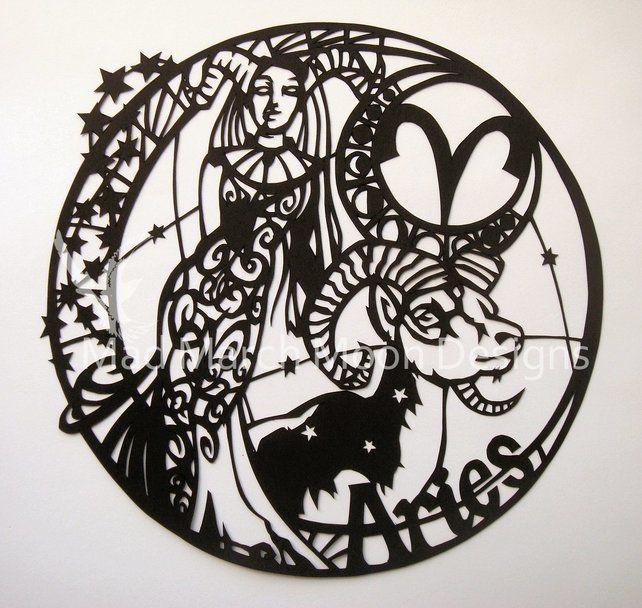 'Aries' zodiac paper cut £45.00