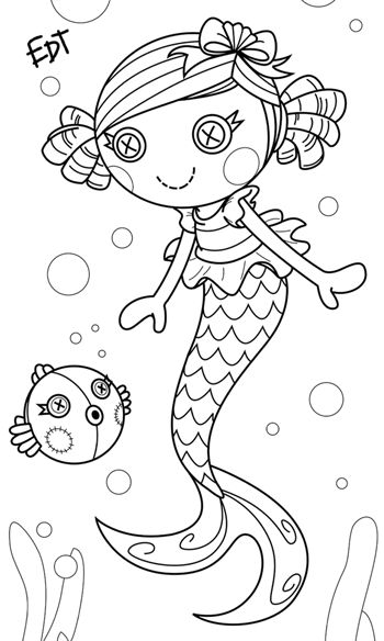 a lil mermaid lalaloopsy