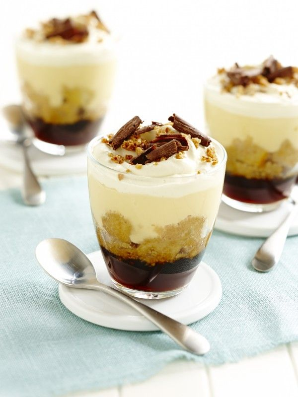 Individual espresso trifles recipe myfoodbook desserts for Quick and easy trifle dessert recipes