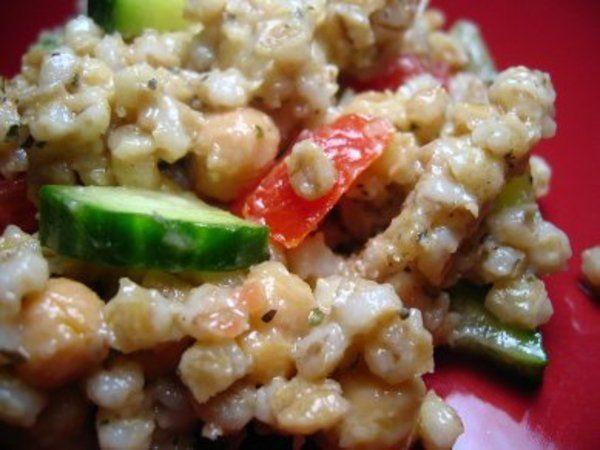 Salade d'orge et de pois chiches - Les recettes de Geccoe