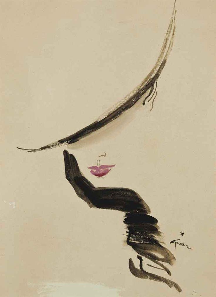 Elegante, 46.6 x 31.3 cm, by Rene Gruau (1909-2004)