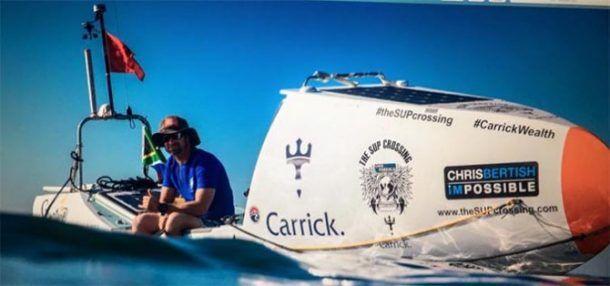 Güney Afrikalı 42 yaşındaki Chris Bertish, Atlas Okyanusu'nu Kürekli Tekne İle Geçen İlk Kişi Oldu. #atlasokyanusu #chrisbertish   http://www.turizmtatilseyahat.com/?p=51975