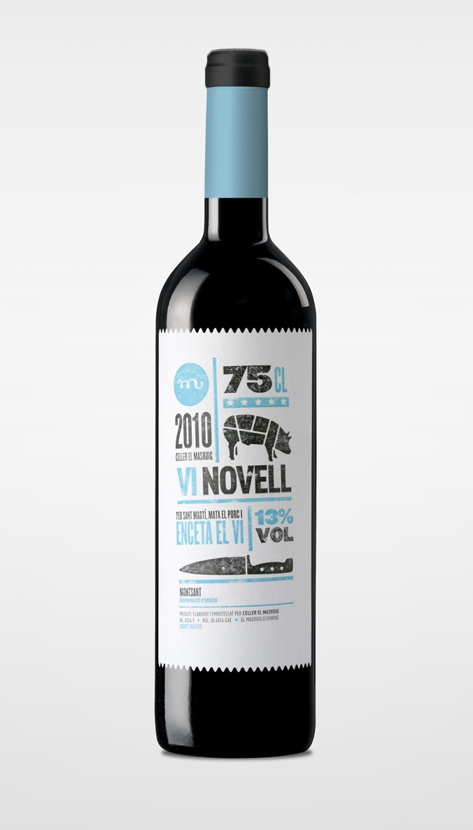 Novell Wine label atipus.com #packaging #design #graphic