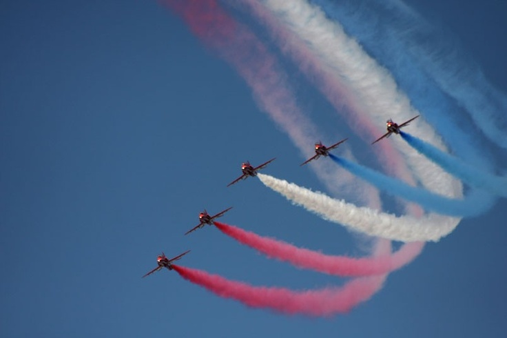 Roger Fry also sent us this photo of the Red Arrows performing under blue skies at Weston-super-Mare Air Day