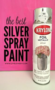 The BEST silver spray paint! Makes stuff look like actual silver leaf.
