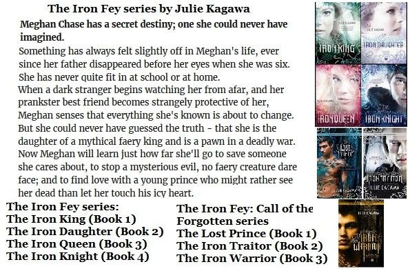The Iron Fey series by Julie Kagawa https://www.goodreads.com/series/47329-the-iron-fey   Fantasy Books
