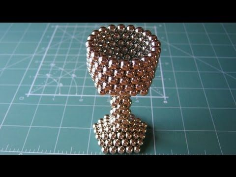 Neocube (sphere magnets) tutorial cup 216 balls - YouTube