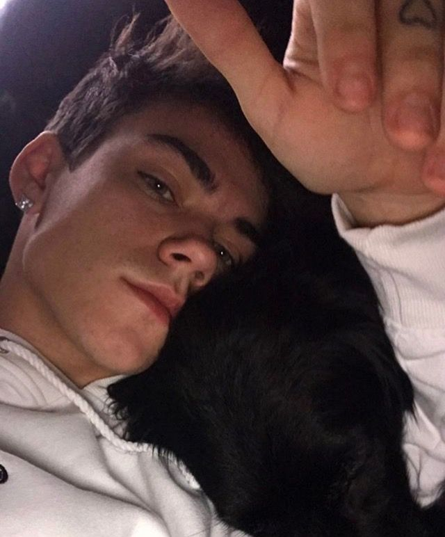 With his dog❤️