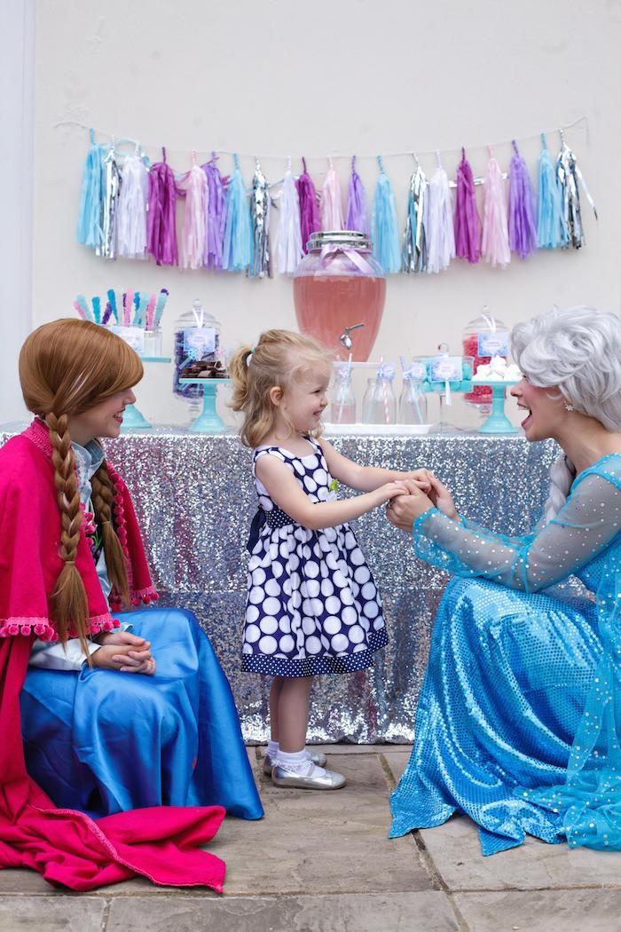 Disney's Frozen themed birthday party via Kara's Party Ideas KarasPartyIdeas.com Cake, favors, cupcakes, decor, printables, invitation, desserts, and more! #disneysfrozen #frozen #frozenparty (10)