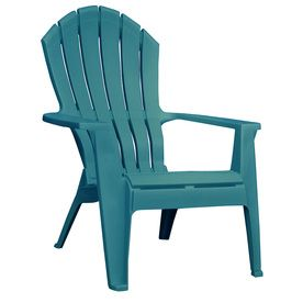 Teal Resin Stackable Casual Adirondack Chair