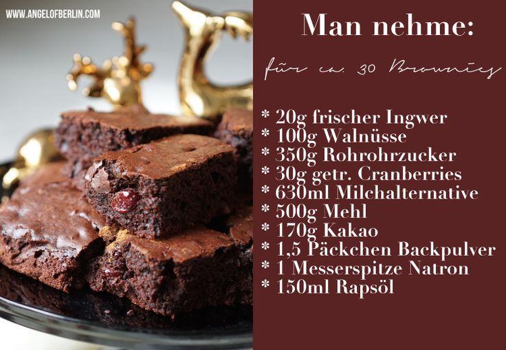 Angel of Berlin bakes vegan Winter Brownies {vegan backen - küche zu verschenken berlin