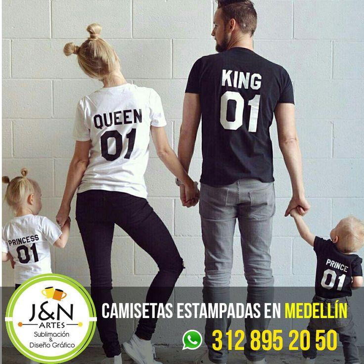 Camisetas Familia Estampados en Medellin