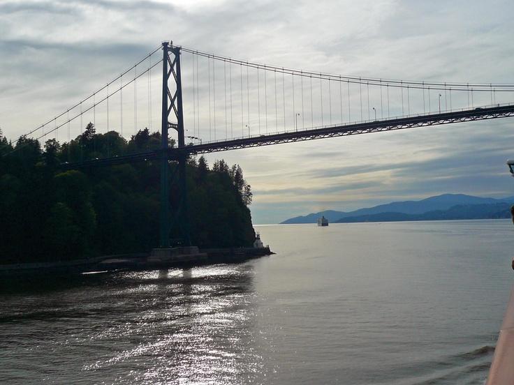 #princesscruises #travel  Sailing under the Lion's Gate bridge aboard the Sapphire Princess heading for an Alaskan Cruisetour.... Priceless