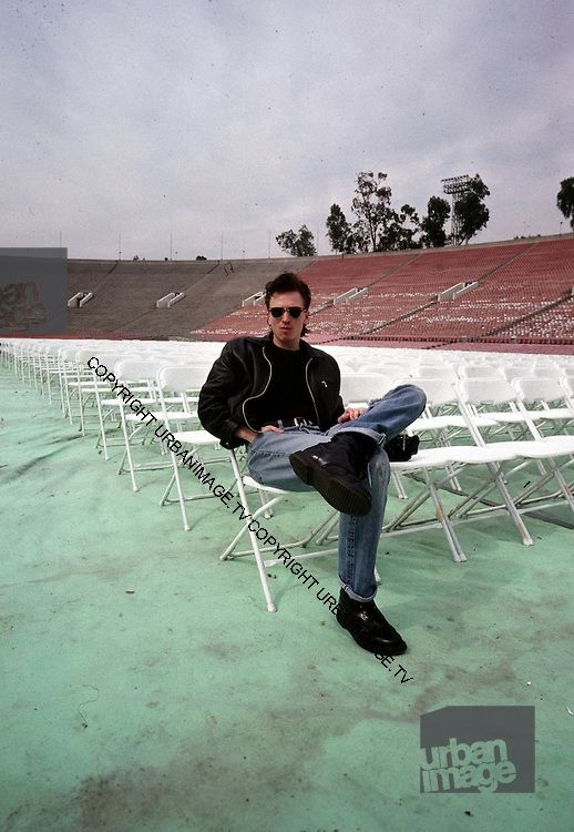 Alan Wilder - Pasadena Rose Bowl, June 1988 © Adrian Boot.