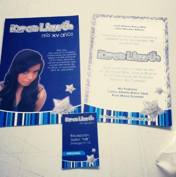 XV Aos Azul Rey Y Plata invitaciones Mi Shambeishn