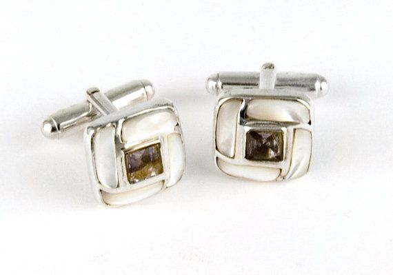 Classic n' Creamy Iolite and Sterling Silver Cufflinks