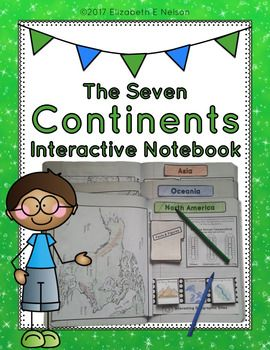 This engaging interactive notebook provides the foundation for your student's study of the seven continents. Throught the creation of their notebooks students will complete activities and folding notes that will create an informational reference they can look back on for their future geography studies.