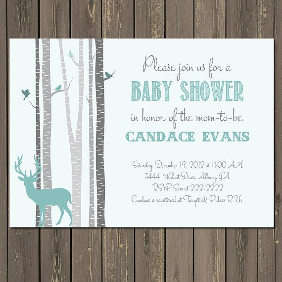 the 25+ best deer baby showers ideas on pinterest, Baby shower invitations