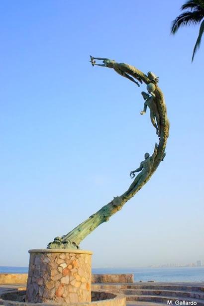 Puerto Vallarta. The Millenia. Statues On Puerto Vallarta