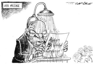 Zapiro's infamous shower head first appeared in 2006 after Zuma said during his rape trial that he had sought to prevent himself from contracting HIV by showering after having sex with his accuser. | www.politicsweb.co.za