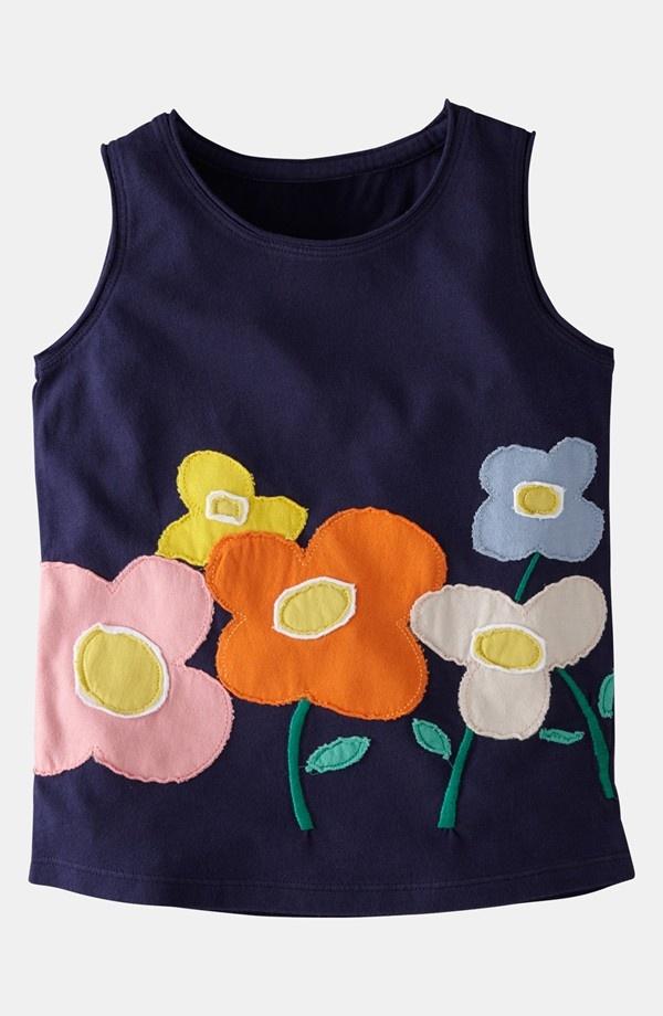 Mini Boden 'Fab Flower' Tank Top (Toddler)