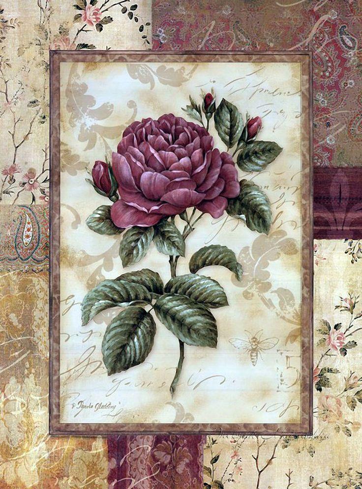 Ткань винтажная открытка