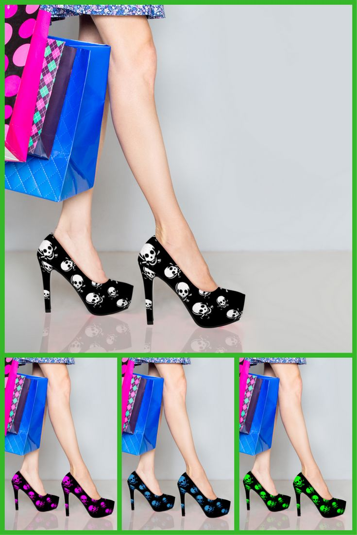 Show off your love for skull with our Skull Heels. Free shipping world wide.