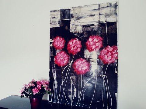 Blumen Malen Acryl Flowers Acrylic Painting Fur Anfanger