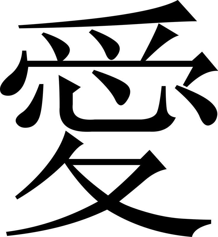 El simbolo del Amor en Chino